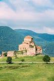 Mtskheta Georgia. Ancient World Heritage, Jvari Monastery On Green Valley Royalty Free Stock Photo