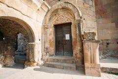 Mtskheta, Georgia. Entrance To Ancient Jvari Monastery, Georgian Stock Images
