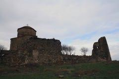 Mtskheta, Georgia Monasterio ortodoxo georgiano de Jvari imagenes de archivo