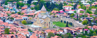 Mtskheta, Georgia and rivers Mtkvari and Aragvi Royalty Free Stock Photo
