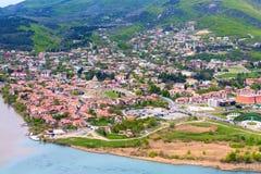 Mtskheta, Georgia and rivers Mtkvari and Aragvi Royalty Free Stock Photos