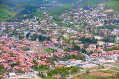 Mtskheta, Georgia and rivers Mtkvari and Aragvi Royalty Free Stock Photography