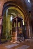 Mtskheta Gruzja, Październik, - 4, 2016: Wnętrze Svetitskhoveli ortodoksa katedra Fotografia Stock