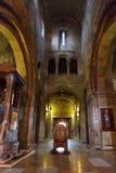 Mtskheta Gruzja, Październik, - 4, 2016: Wnętrze Svetitskhoveli ortodoksa katedra Obrazy Royalty Free