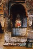 Mtskheta Gruzja, Październik, - 4, 2016: Wnętrze Svetitskhoveli ortodoksa katedra Obraz Stock