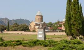 Mtskheta, Gruzja SIERPIEŃ 17, 2013: Samtavro transfiguraci Ortodoksalny kościół i Nunnery St Nino w Mtskheta Zabytek t Zdjęcie Royalty Free