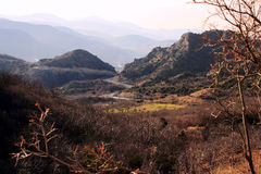 Mtskheta-Mtianeti region and Mtkvari (Kura) river  (Georgia) Royalty Free Stock Image