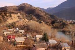 Mtskheta-Mtianeti region and Mtkvari (Kura) river  (Georgia) Stock Image