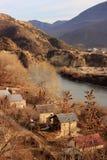 Mtskheta-Mtianeti region and Mtkvari (Kura) river  (Georgia) Royalty Free Stock Photo