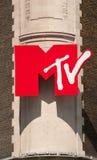 mtv-tecken Arkivbild