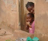 MTWARA, Tansania - 3. Dezember 2008: das Dorf. Lizenzfreie Stockbilder