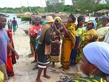 MTWARA Tanzania, Grudzień, - 3, 2008: rybi rynek. Zdjęcia Royalty Free