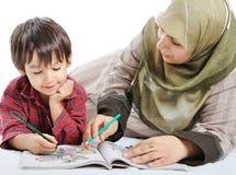 Muçulmanos da família Fotos de Stock