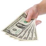 Muéstreme el dinero, 1 dólar Foto de archivo libre de regalías