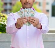 Muéstreme el dinero fotografía de archivo libre de regalías