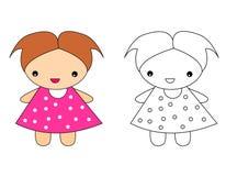 Muñeca stock de ilustración