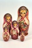 Muñeca bonita de Matryoshka con los ornamentos florales Fotos de archivo libres de regalías