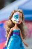 Muñeca con el cráneo del azúcar Imagen de archivo