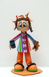 Muñeca con el movil Foto de archivo