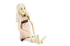 Muñeca con el pelo rubio Foto de archivo libre de regalías