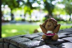 Muñeca de la arcilla de la muchacha del primer Foto de archivo libre de regalías