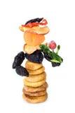 Muñeca de la Navidad de los frutos secos Imagen de archivo
