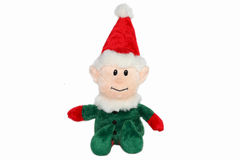 Muñeca de la Navidad en el fondo blanco, recuerdo de la Navidad - X'MAS Doll aislado en el fondo blanco Imagen de archivo libre de regalías