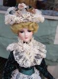 Muñeca de la porcelana del Victorian de la vendimia Fotografía de archivo libre de regalías
