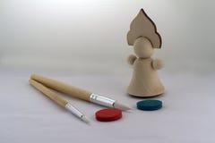 Muñeca de madera Imagenes de archivo