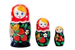 Muñeca de madera nacional rusa Imágenes de archivo libres de regalías