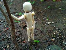 muñeca de madera sola Fotografía de archivo