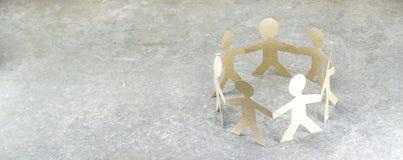 Muñeca de papel de la unidad Imagen de archivo