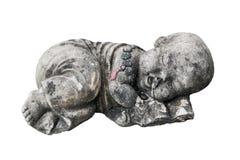 Muñeca de piedra en el fondo blanco fotos de archivo libres de regalías