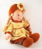 Muñeca de trapo, muñeca de la tela Foto de archivo