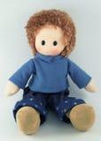 Muñeca de trapo, muñeca de la tela Fotografía de archivo