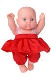 Muñeca del baile en vestido rojo Imagenes de archivo