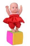 Muñeca del baile en vestido rojo Foto de archivo libre de regalías