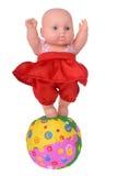 Muñeca del baile en vestido rojo Fotos de archivo libres de regalías