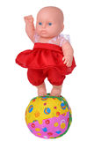 Muñeca del baile en vestido rojo Imagen de archivo