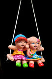 Muñeca del niño de la loza de barro imagenes de archivo