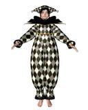 Muñeca del payaso de Pierrot - verificaciones del Harlequin Imagen de archivo libre de regalías