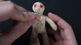Muñeca del vudú Ejemplo de la angustia stock de ilustración