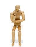 Muñeca en actitud de pensamiento Fotografía de archivo libre de regalías