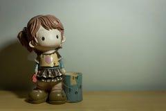 Muñeca en mi hogar Fotos de archivo
