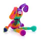 Muñeca hecha a mano del conejo del color Imágenes de archivo libres de regalías