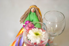 Muñeca hecha a mano del verano Foto de archivo
