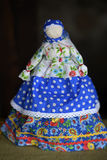 Muñeca hecha a mano popular Imágenes de archivo libres de regalías