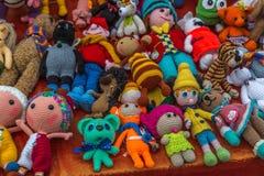 Muñeca hecha punto del juguete Imagenes de archivo