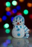 Muñeca iluminada del muñeco de nieve Imágenes de archivo libres de regalías