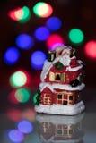 Muñeca iluminada del muñeco de nieve Fotografía de archivo
